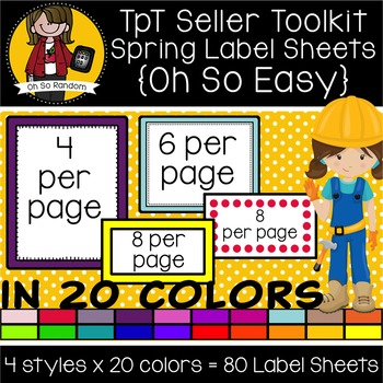 TpT Seller Toolkit {Spring Labels Sheets}