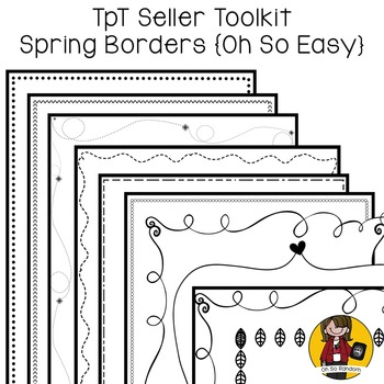 TpT Seller Toolkit {Spring Borders}