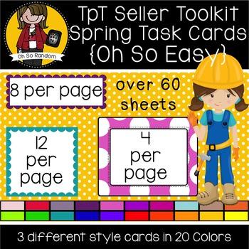 TpT Seller Toolkit {Spring Task Cards}