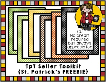TpT Seller Toolkit {St. Patrick's FREEBIE}