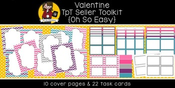 TpT Seller Toolkit {Valentine Cover Pages & Task Cards}