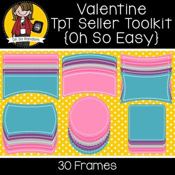 TpT Seller Toolkit {Valentine Frames}