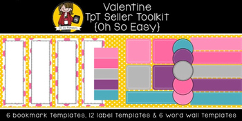 TpT Seller Toolkit {Valentine Templates}