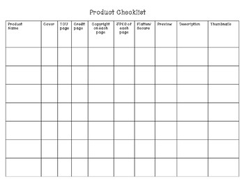 TpT Sellers Product and Marketing Planner