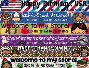 TpT Store Banners