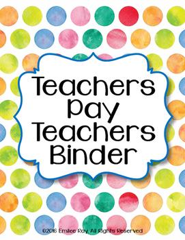 TpT Store Binder