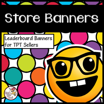 TpT Store Leaderboard Banner with EMOJI