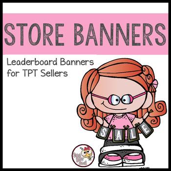 TpT Store Leaderboard Banner BOBBLEHEADZ FRIENDS