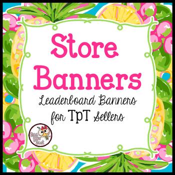 TpT Store Leaderboard Banner PINEAPPLE