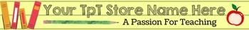 TpT Store Logo, Label, Banner - SCHOOL SUPPLIES