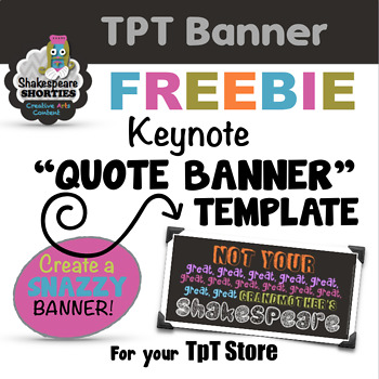 "TpT Store ""Quote"" Banner Template (For KEYNOTE)"