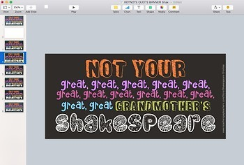 """TpT Store """"Quote"""" Banner Template (For KEYNOTE)"""