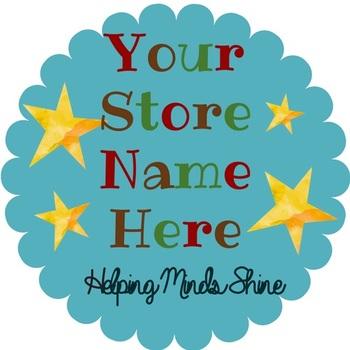 TpT Store Shining Star Logo, Banner and Label Design Bundle