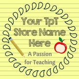 TpT Store Shining Star Logo, Banner and Label Design Bundle
