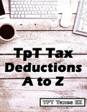 TpT Tax Deductions A to Z