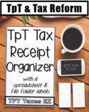 TpT Tax Receipt Organizer
