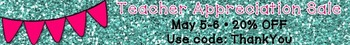 TpT Teacher Appreciation Sale May 5-6 FREE Store Banner
