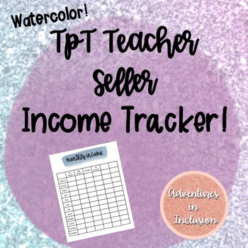TpT Teacher Seller Income Tracker