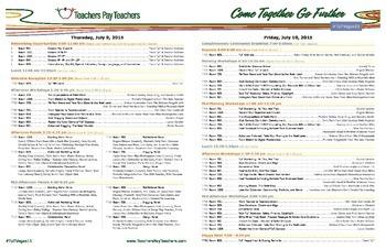 TpT Vegas 2015 Program Guide