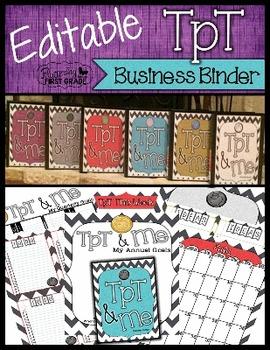 TpT Business Organization Binder