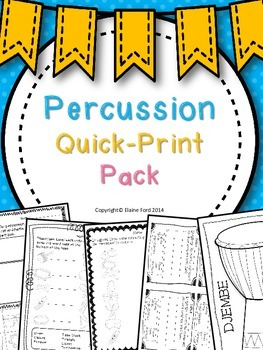 Percussion Quick-Print Pack