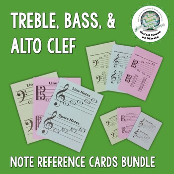 #AprilFoolsMusic Treble, Alto, and Bass Clef Note Reference Card BUNDLE