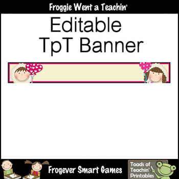 Tpt Banners-Facebook Cover Bundle--Eskimo Kisses (Editable)
