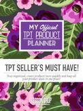 Tpt Seller's Product Planner