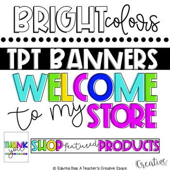 Tpt Store Banner {Bright Theme}