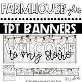 Tpt Store Banner {Farmhouse String Lights Theme}