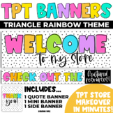 Tpt Store Banners Rainbow Triangle Theme