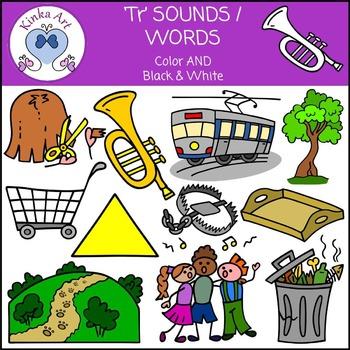 Tr Sounds / Words: Beginning Sounds Clip Art