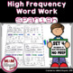 Trabajando con Palabras - Spanish High Frequency Word Work
