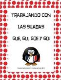 Trabajando con las silabas gue, gui, güe y güi - working with syllables.