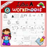 Trabajo LETRA A (hojas de trabajo) / Worksheets letter I (