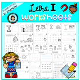 Trabajo LETRA I (hojas de trabajo) / Worksheets letter I (