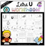 Trabajo LETRA U (hojas de trabajo) / Worksheets letter U (