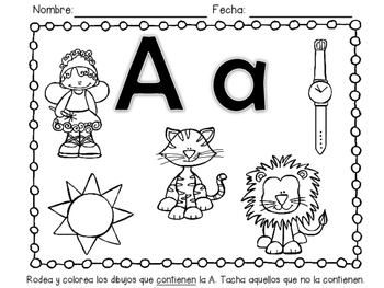 Trabajo con vocales - Vowels Worksheets