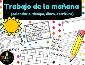 Trabajo de la mañana (Morning Work in Spanish)