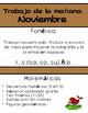 Trabajo de la mañana Noviembre (Spanish)