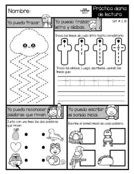 Trabajo de la mañana Octubre (Spanish)