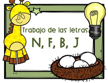Trabajo de las letras n, f, b, j  Bundle!!