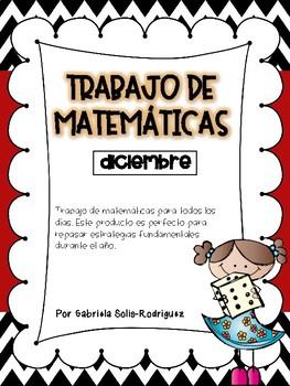 Trabajo de matemáticas (diciembre)