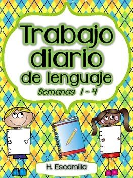 Trabajo diario de lenguaje - Semanas 1 - 4