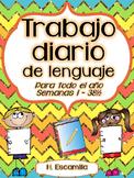 Trabajo diario de lenguaje - Para todo el año - Semanas 1 - 38