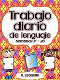 Trabajo diario de lenguaje * Semanas 17 - 20