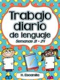 Trabajo diario de lenguaje * Semanas 21 - 24