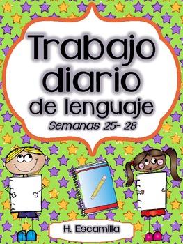 Trabajo diario de lenguaje * Semanas 25 - 28