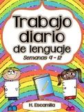 Trabajo diario de lenguaje - Semanas 9 - 12