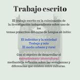 Trabajo escrito (written assignment) español ab initio MAT